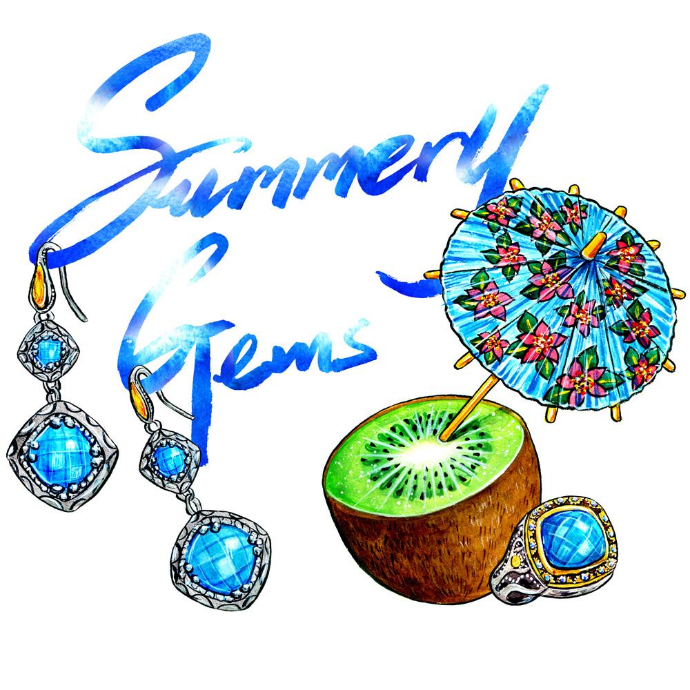 Summery Gems Palm Tree Dreams Sunny Gu